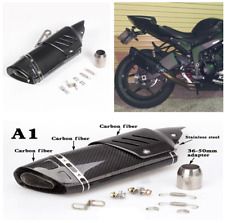 51mm Whole 100% Real Carbon Fiber Motorcycle Exhaust Pipe Muffler W/DB Killer