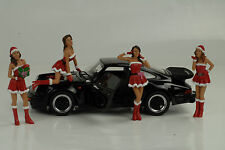 Porsche 911 993 991 964 personaje Girls set 4 figuras Christmas 1:18 diorama no Car