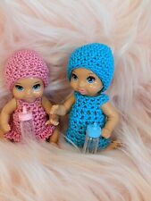 Barbie Baby Doll Handmade Dress Hat Clothes Miniature Accessories Lot NO DOLL