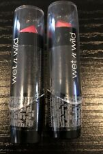 2 Pack Wet N Wild Silk Finish Lipstick 504A Pink Ice New Sealed