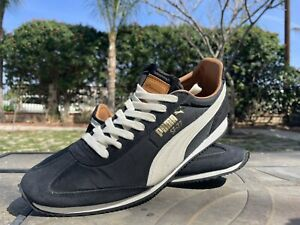 Puma SF-77 Running Shoes- Nylon/ Suede Black Size 9.5