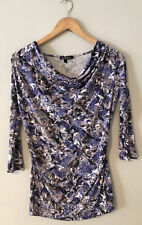 maternity top size 10 Isabella Oliver Purple Print