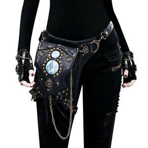 Unisex Shoulder Bag Steampunk Waist Pack Gothic Vintage Messenger Retro Handbag