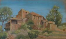 Lovely Old Castle San Telmo Majorca Spain Pastel by Terence Fitzgibbon