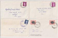 TASMANIA  1970s: 4 small covers with full clear postmarks · PREOLENNA, LEBRINA..