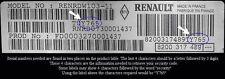 Renault Clio, Scenic, Laguna, Megane, Twingo, Espace, Modus, Kangoo, Radio Code
