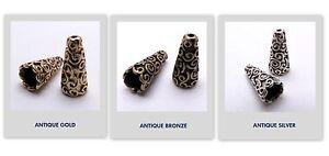 Bead Caps Antique Gold & Antique Silver& Antique Bronze 10 psc (Set# 6)