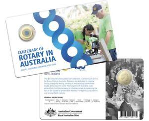 2021 Centenary of Rotary of Australia $1 Coloured Coin