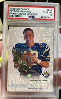 1998 UD Choice Prime Reserve Peyton Manning ROOKIE RC 14/100 #256 PSA 10 *pop 6*