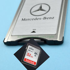 PCMCIA TO SD PC CARD ADAPTER for Mercedes-Benz + 32GB SDHC 80MB Memory card