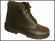 Unbranded Work Boots Synthetic Leather Shoes for Men