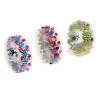 3Pcs Self-Adhesive Rhinestones Gemstone Crystal Embellishments Stick On Tape