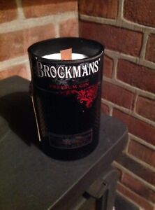 Upcycled Gin Bottle Candle Various Fragrances Available
