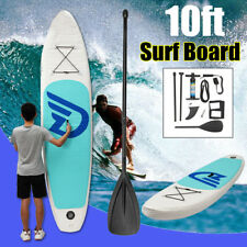 10ft Stand Up Surf Paddle Board Inflatable Water Pump Foot Leash Accessories