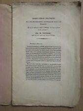 FECONDATIONS ARTIFICIELLES DANS LES POISSONS (truite, brochet), 1849.