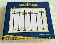 American Flyer by LTI #49872 S-Scale Telephone Poles! B L@@K!