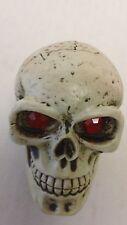Custom Ruby Eyed Skull Head Shift Knob Lever Solid Resin Evil Eye Rat Rod Gear