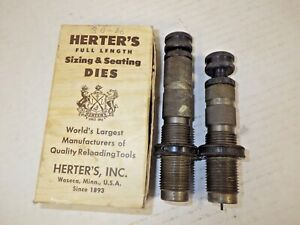 VINTAGE HERTER'S SIZING AND SEATING DIES FOR 30-06 IN GOOD CONDITION WITH BOX