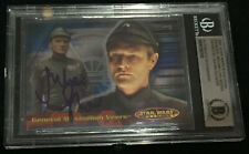 JULIAN GLOVER GENERAL VEERS TOPPS CARD STAR WARS SIGNED AUTOGRAPHED BECKETT BAS