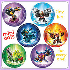 Skylanders Stickers - 48 Dots - 8 Sheets - Reward Charts - Birthday - Dot Seals