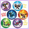 Skylanders Stickers - 48 Dots - 8 Sheets - Reward Charts - Birthday - Dot Seals