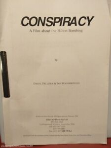 "True Stories TV Series (1994) Production Script Ep ""Conspiracy"" Hilton Bombing"