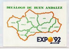 Tarjeta Postal para Expo 92 Decalogo de Buen Andaluz (DQ-526)