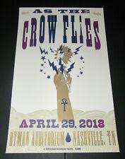 Chris Robinson As The Crow Flies Hatch Show Print Poster Ryman Auditorium