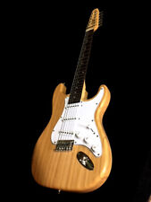 NEW 12 STRING NATURAL ST STYLE ELECTRIC GUITAR-SMOOTH ACTION LIGHTWEIGHT
