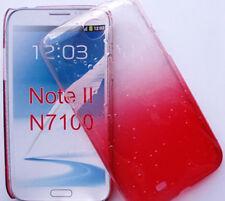 GALAXY NOTE 2 SAMSUNG N7100 ETUI HOUSSE COQUE RIGIDE RAIN DROP EFFET PLUIE ROUGE