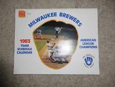 Vintage 1983 Milwaukee Brewers Team Schedule Calendar sponsored by Burger King