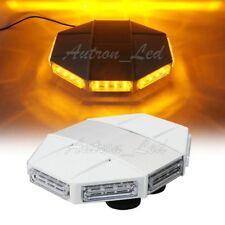 "13"" 32W LED Warning Emergency Beacon Signal Strobe Roof Top Mini Amber Light Bar"