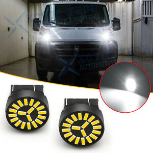 For Ram ProMaster 1500 2500 3500 White 7443 LED Daytime Running Light DRL Bulbs