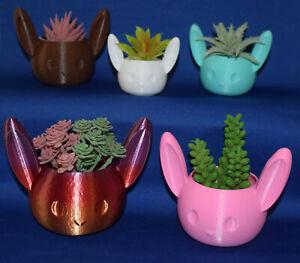 Cute BUNNY Rabbit ~ Flower Succulent Air Plant Pot Planter Figure
