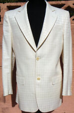 New GIANFRANCO FERRE 38S White Houndstooth Check Slim-Fit Club Jacket Coat