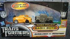 TRANSFORMERS Dark of the Moon BUMBLEBEE & MEGATRON Robo Power Bash Bots NIP