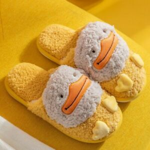 Women's Non-slip Slippers Coral Plush Cotton Fluffy Warm Indoor Bedroom Footwear