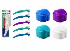 Orafix Complete Care Premium Denture Brush & Denture Bath Strainer combo