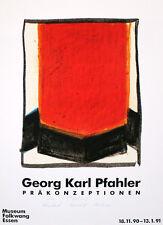 Georg Karl pfahler-autografiada - 1990-ausstellungsplakat