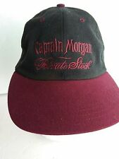 Captain Morgan Private Stock Embroidered Black Burgundy Hat Cap Adjustable 1 sz
