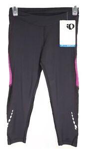 Pearl Izumi Pants Size S for Womens Select Black Aurora Splice 3 Quarter Tight