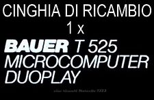★CINGHIA DI RICAMBIO MOTORE 1 x PROIETTORE BAUER T 525 DUOPLAY SUPER 8 mm ★