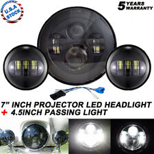 """Fit Harley Electra Glide Classic 7"""" LED Headlight + 4.5"""" Passing Lights"""