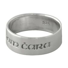 """Brand New 925 Sterling Silver Anam Cara Celtic """"Soul Friend"""" Band Ring - size 7"""