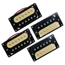 2sets Zebra Faced Humbucker Double Coil Pickups For Electric Guitar Neck Bridge