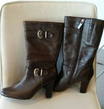 """Fiorelli """"Anna"""" Brown Coloured Genuine Leather Calf Length Womens boots size 8.5"""