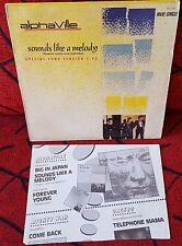 "ALPHAVILLE ""Sounds Like A Melody"" RARE Spain 12"" Single w/ PROMO SHEET 1984"