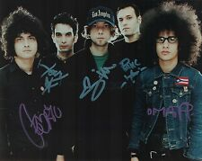 At The Drive-In full band REAL hand SIGNED early photo w/ COA Mars Volta Omar