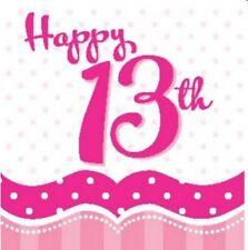 Art de la table de fête serviettes roses anniversaires-enfants pour la maison