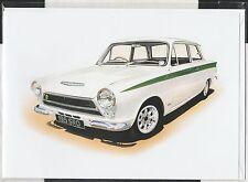 1963 FORD LOTUS CORTINA MK1 NEW ART PRINT GREETING GIFT BIRTHDAY CHRISTMAS CARD